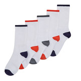 white Boys Sports Socks - Pack Of 5
