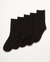 black Boys School Socks - Pack Of 5