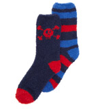 red Boys Fluffy Socks - Pack Of 2