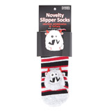 red 3D Slipper Socks