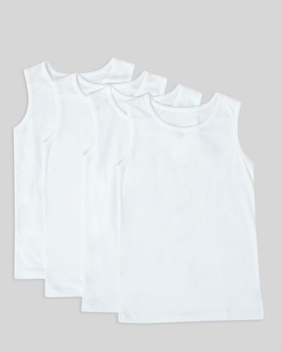 Boys Sleeveless Vests – Pack Of 4 (2-14 years) thumbnail