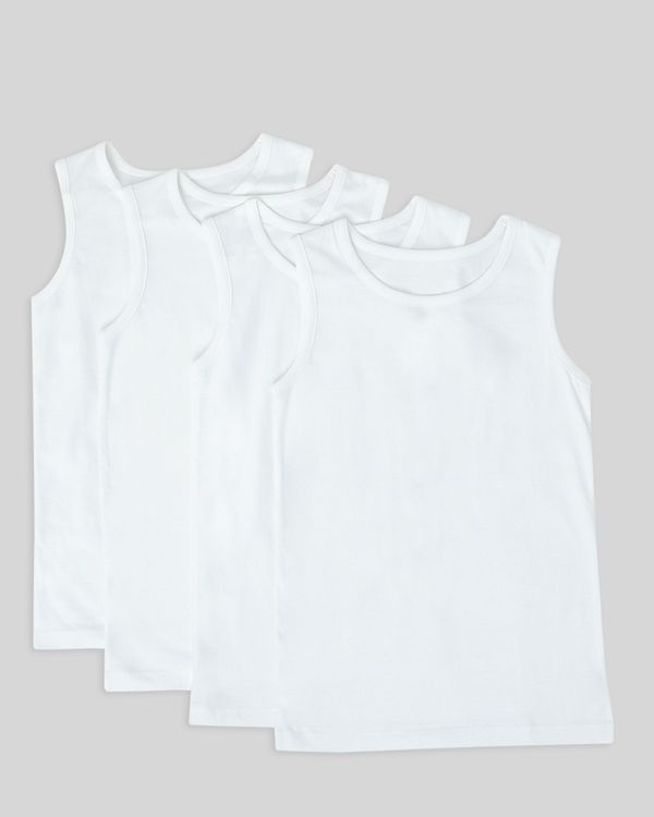 Boys Sleeveless Vests – Pack Of 4 (2-14 years)