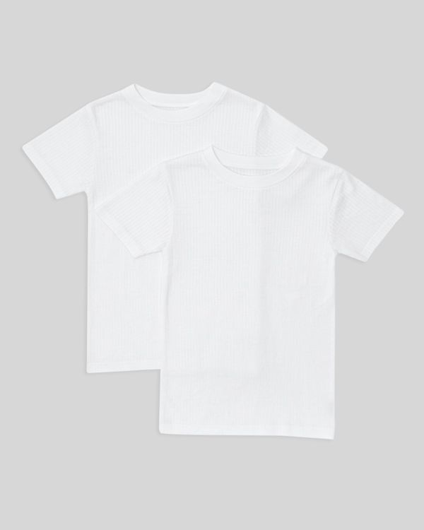 Boys Thermal Short Sleeve Tops - Pack Of 2