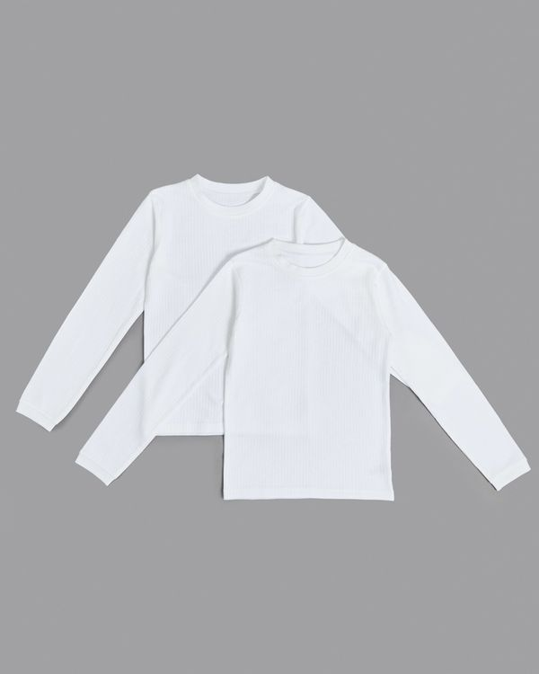 Boys Thermal Long Sleeve Tops - Pack Of 2