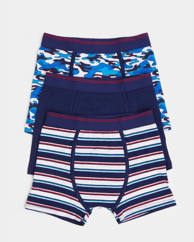 Boys Jersey Trunks - Pack Of 3 (2-14 years) thumbnail
