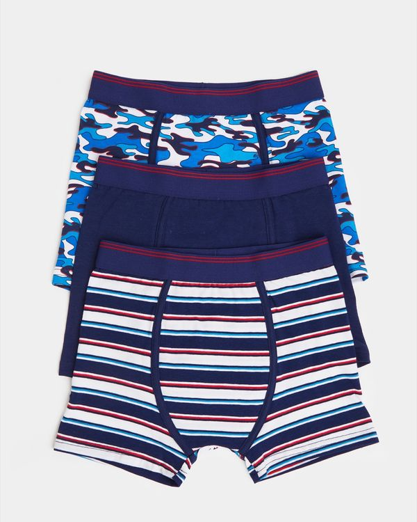 Boys Jersey Trunks - Pack Of 3 (2-14 years)