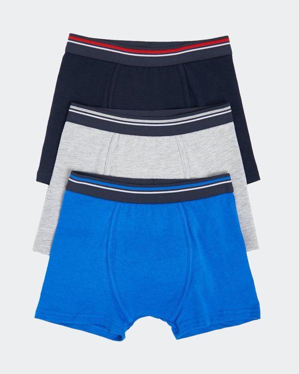 Boys Jersey Trunks - Pack Of 3