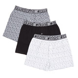 assorted Boys Loose Fit Jersey Boxers - Pack Of 3