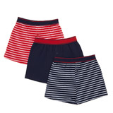 navy-stripe Boys Loose Fit Jersey Boxers - Pack Of 3
