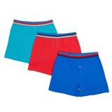 red-blue Boys Loose Fit Jersey Boxers - Pack Of 3