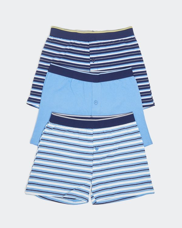 Boys Loose Fit Jersey Boxers - Pack Of 3