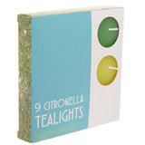 multi Citronella Tealights - Pack Of 9