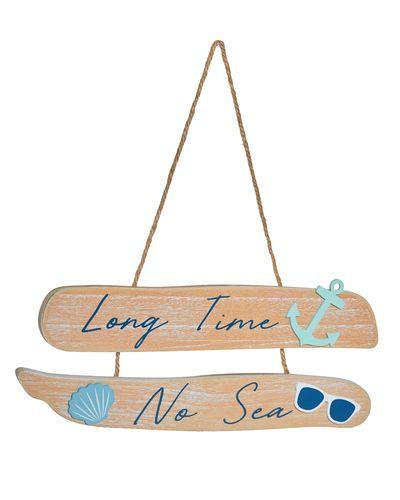 Long Time No Sea Beach Sign
