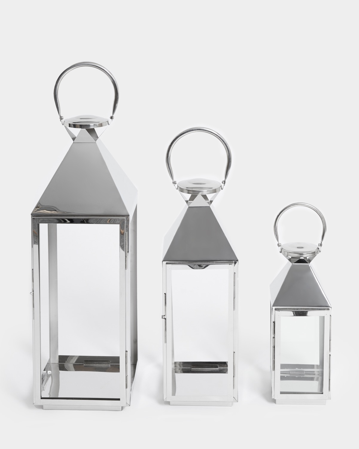 Dunnes Stores Silver Stainless Steel Lantern