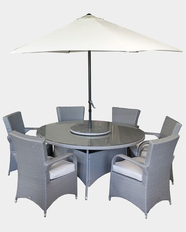 Dunnes Stores Beige Casino Rattan Dining Set