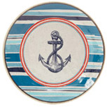 navy Nautical Side Plate