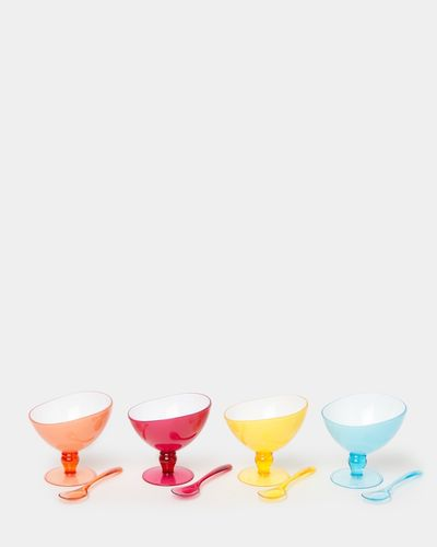 Ice Cream Bowls And Spoon Set