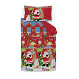 red Christmas Duvet Set