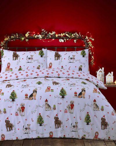 Christmas Dog Duvet Set