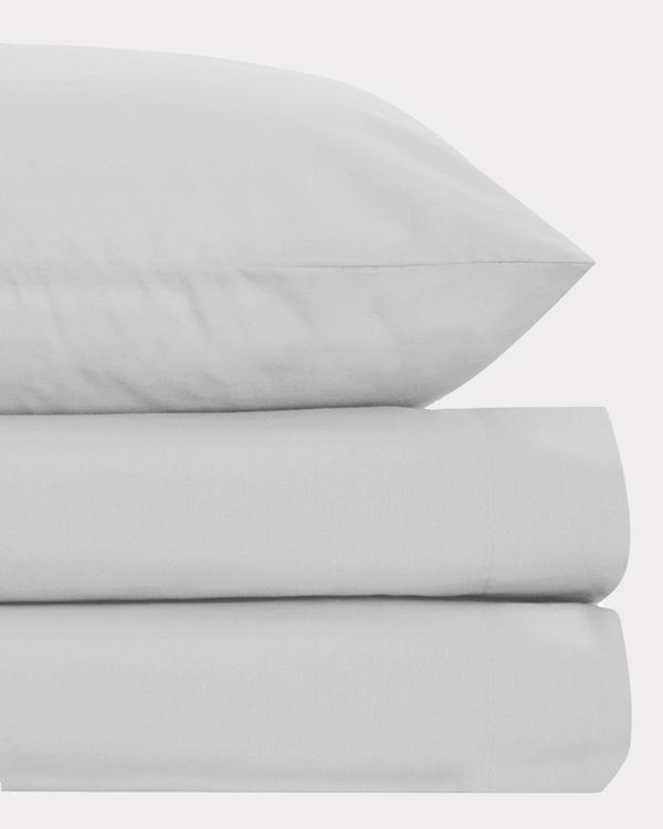 Non Iron Percale Fitted Sheet 180 Thread Count - Single