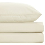 cream Non Iron Percale Fitted Sheet 180 Thread Count - Double