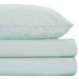 duck-egg Non Iron Percale Fitted Sheet 180 Thread Count - King Size