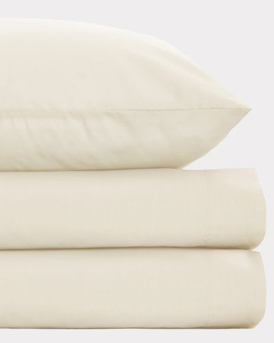 Non Iron Percale Fitted Sheet 180 Thread Count - King Size