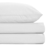 white Non Iron Percale Fitted Sheet 180 Thread Count - Super King