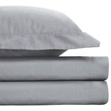 grey Egyptian Cotton Fitted Sheet - Double