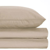 mink Egyptian Cotton Deep Fitted Sheet - Double