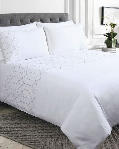 Geo Embroidered Duvet Set thumbnail