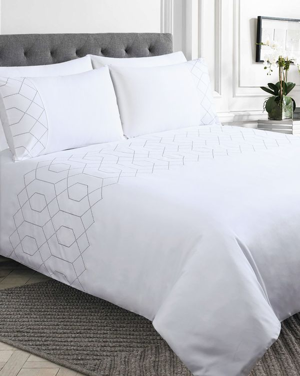 Geo Embroidered Duvet Set