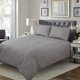 grey Textured Duvet Set