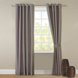 mink Faux Silk Curtains And Tie Backs