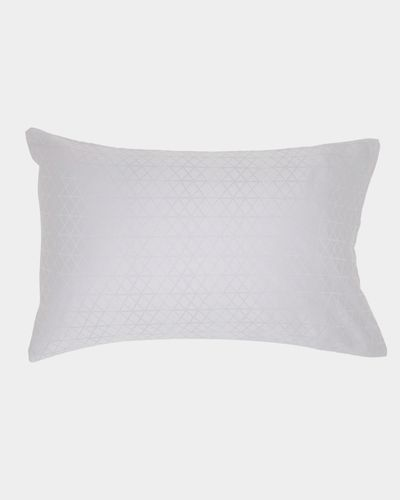 Geo Jacquard Standard Pillowcase - Pack Of 2