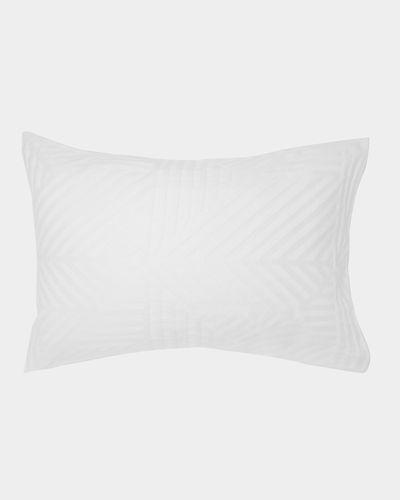 Geo Stripe Jacquard Standard Pillowcase - Pack Of 2