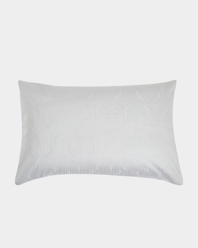 Geo Jacquard Housewife Pillowcase - Pack of 2