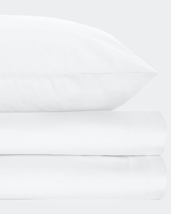 Non Iron Percale King Pillowcase 180 Thread Count