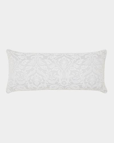 Floral Jacquard Boudoir Cushion