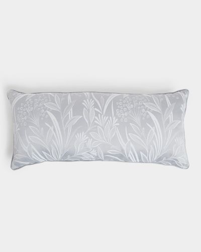 Leaf Jacquard Boudoir Cushion
