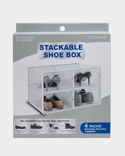 Stackable Shoe Boxes - Pack Of 4