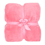 pink Kids Plain Throw