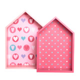 pink House Shelves Set