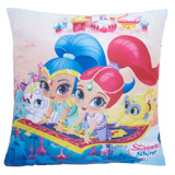 pink Shimmer And Shine Square Cushion