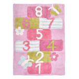 pink Hop Scotch Rug