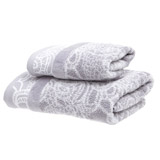 grey Lace Hand Towel