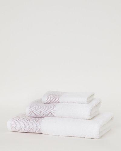 Ikat Border Bath Towel