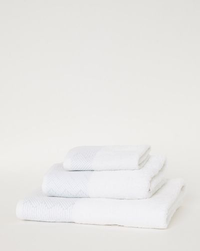 Ikat Border Bath Towel