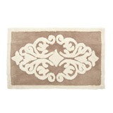 mocha Scroll Bath Mat