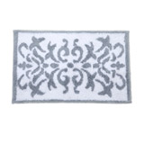 grey Ornate Bath Mat